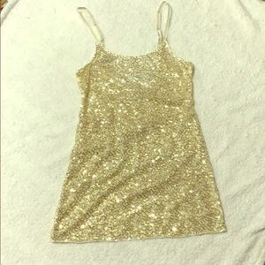 Intimately Free People gold sequined tank top